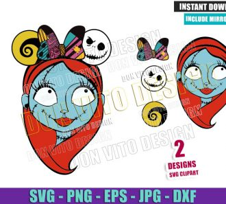 Sally Minnie Ears Bow (SVG dxf png) Disney Halloween Cut File Cricut Silhouette Vector Clipart - Don Vito Design Store