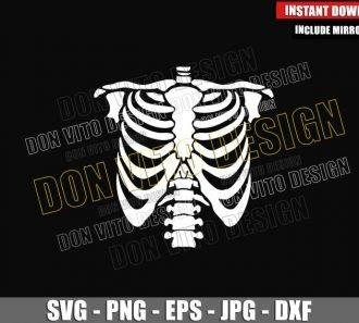 Skeleton Chest (SVG dxf png) Halloween Costume Skeleton Torso Cut File Cricut Silhouette Vector Clipart - Don Vito Design Store