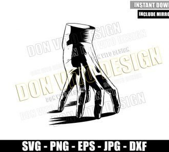 Thing Addams Hand (SVG dxf png) The Addams Family Cut File Cricut Silhouette Vector Clipart - Don Vito Design Store