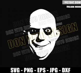 Uncle Fester Face (SVG dxf png) The Addams Family Cut File Cricut Silhouette Vector Clipart - Don Vito Design Store