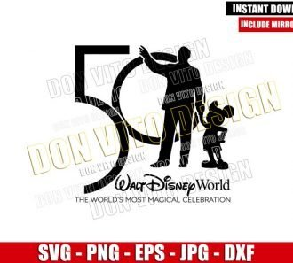 Walt Disney Mickey 50th Celebration (SVG dxf png) The Most Magical Anniversary Cut File Cricut Silhouette Vector Clipart - Don Vito Design Store